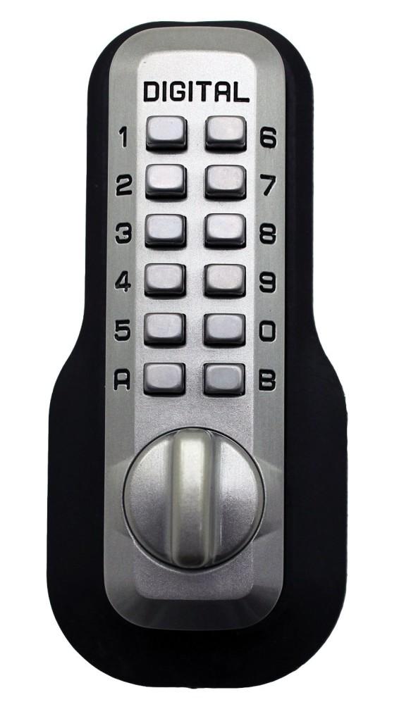 Lockey Digital M210 Mechanical Keyless Entry Bump Proof Deadbolt Door Lock Satin Nickel Finish