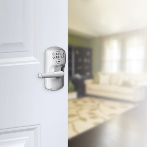 Schlage Playmouth Keypad Entry and Elan Lever 575