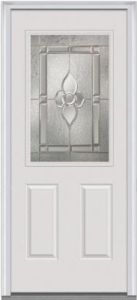 34 In. X 80 In. Master Nouveau Decorative Glass 1:2 Lite 2