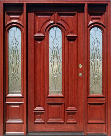 cherry exterior door