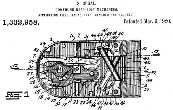 deadbolt inventor samuel segal