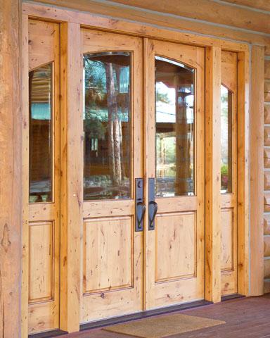 pine exterior wooden door