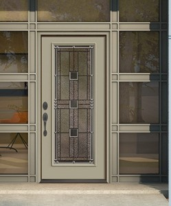 smooth skin fiberglass exterior door