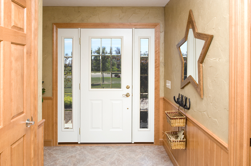 Madrid Stainless Steel Exterior Door With Sidelights
