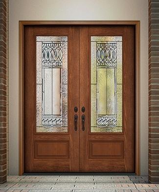 textured fiberglass exterior door