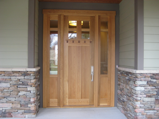 white oak exterior door