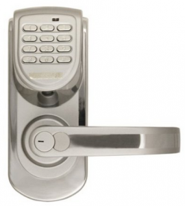 LockState LS-6600-R-S 200-Code Keyless Digital Door Lock, Right-Hand, Silver