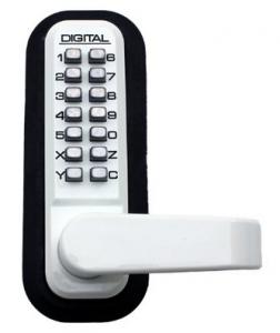 Lockey USA 2835SN Lever Handle Mechanical Pushbutton Lock
