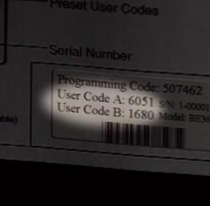 schlage be365 preset user code