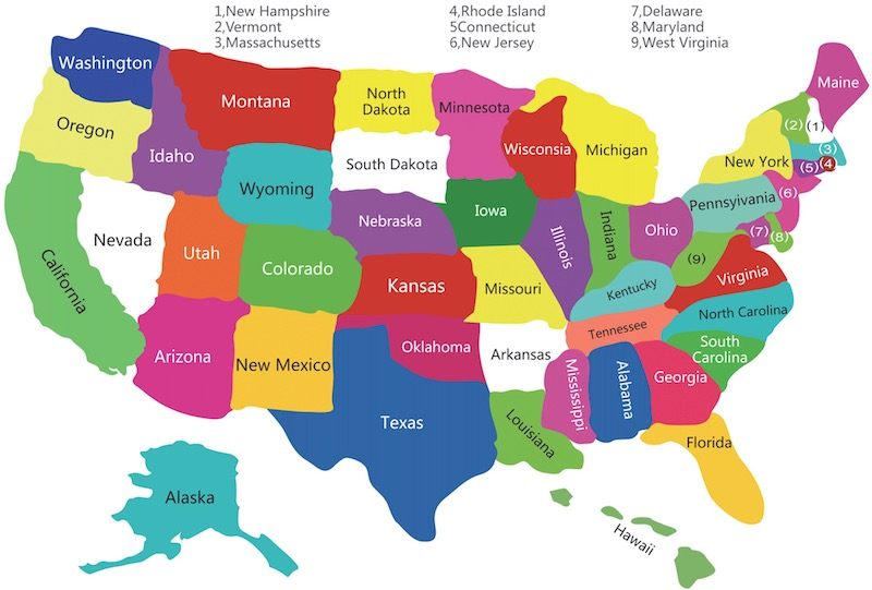 all 50 states map