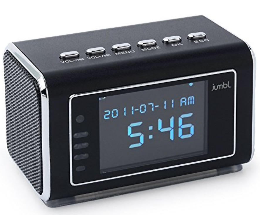 Jumbl Mini Hidden Spy Camera Radio Clock review