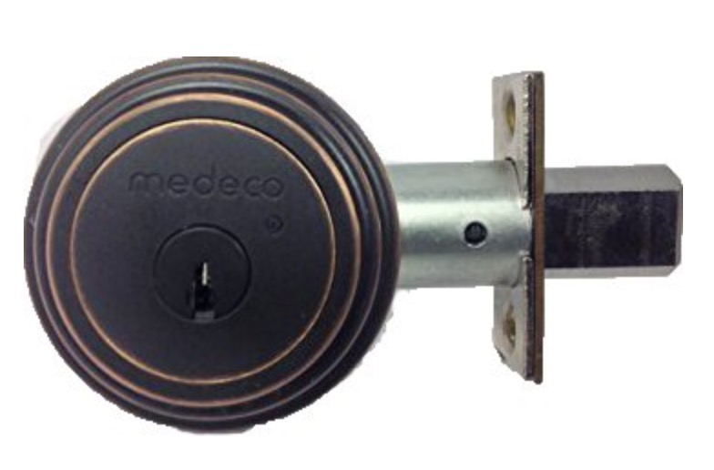 blackened brass medeco deadbolt