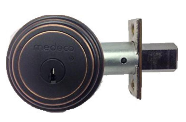 blackened brass medeco deadbolt