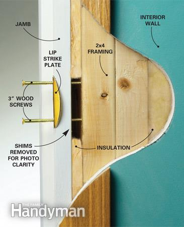 Strengthen your door frames. Even if your door is of good quality and resistant with locks that have been installed correctly burglars can still try to ... & Tips on How To Make Your Doors More Burglar Proof