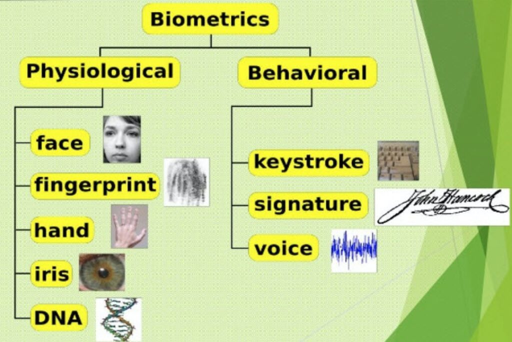 biometrics behavioral vs physiological
