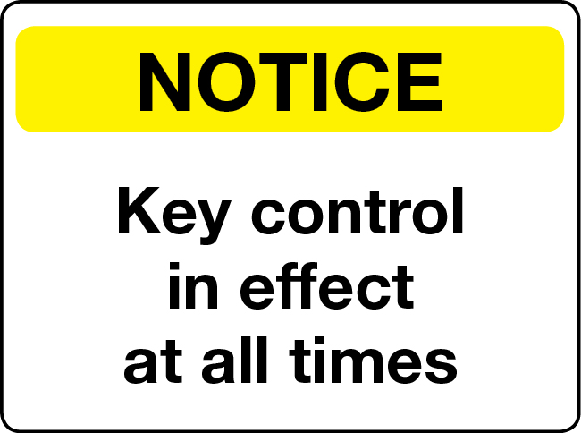 key control in effect at all times